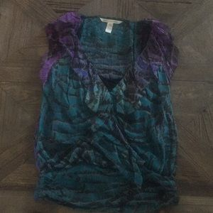 Diane von Furstenberg silk top size 2